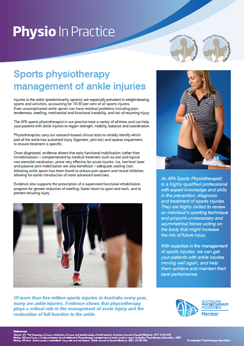 Physio in Practice Brochure - Anke Injuries