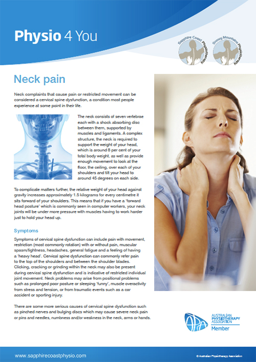 Neck Pain - Physio 4 You Brochure