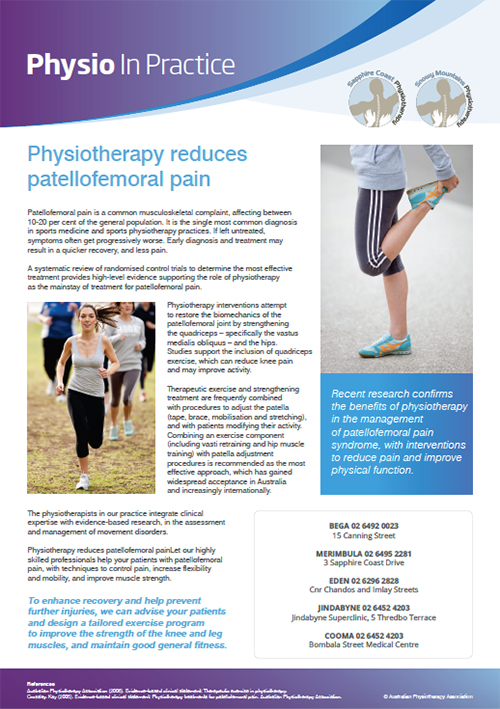Physio in Practice Brochure - Patellofemoral