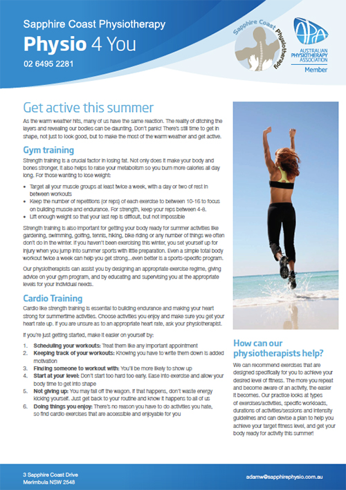 Physion 4 You Brochure - Active for Summer