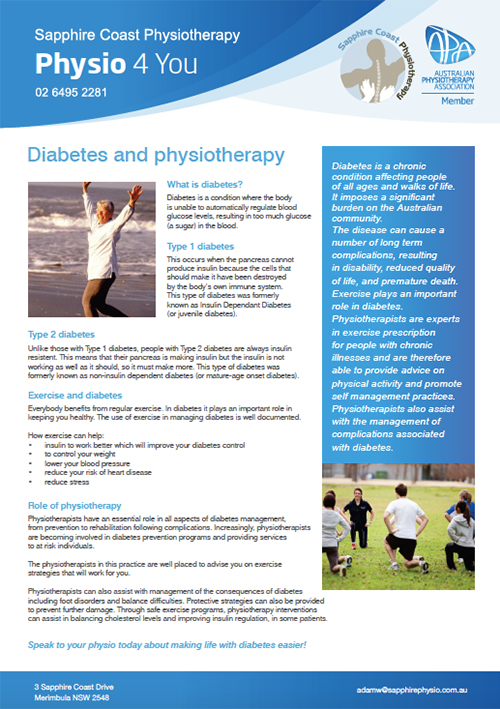 Physion 4 You Brochure - Diabetes